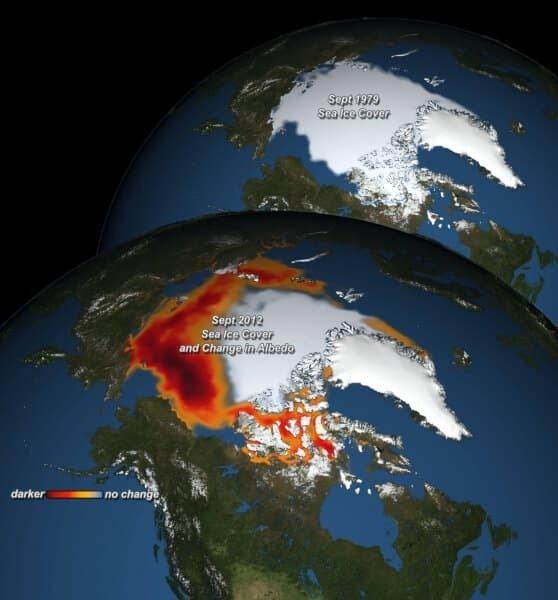 Loss of Arctic Albedo