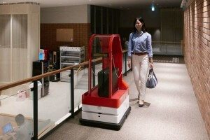 Robot Porter in automated hotel