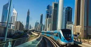 Advanced robotic metro rail in Dubai