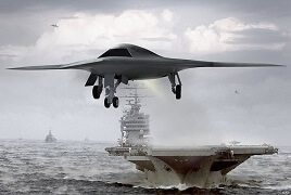 Drone and Aircraft Carrier