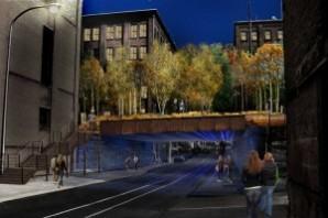 Night View Bridge Under Rail Park- High Line Philadelphia