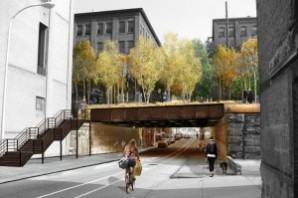 Street Under Rail Bridge High Line Philadelphia