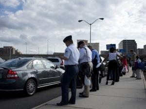Commuters slug line for HOV access