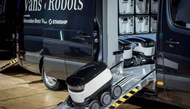 Robots Descend from Van