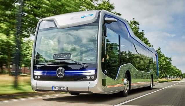 Mercedes Bus drives itself
