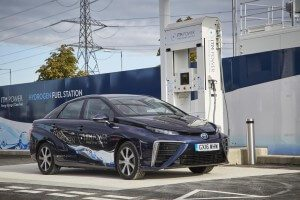 Toyota Fuel Call Car and Hydrogen filling Station
